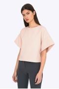 Стильная минималистическая блузка Emka B2202/nude