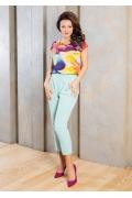 Яркая летняя блузка TopDesign A7 090
