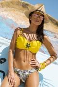 Жёлтый раздельный купальник Primo 414/1
