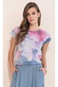 Летняя блузка с цветочным рисуном Zaps Frezja