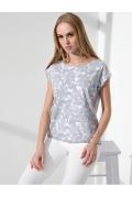 Серо-белая летняя блузка Sunwear I63-2