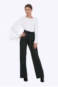 Широкие женские брюки с поясом Emka D075/bulgun