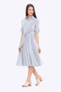 Платье в тонкую полоску с рукавом три четверти Emka PL620/jadin