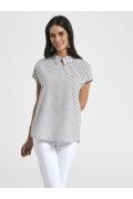 Блузка с рубашечным воротом Ennywear 250024