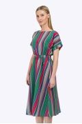 Летнее платье в разноцветную полоску Emka PL779/hilarios