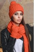 Комплект шапка+шарф+варежки SuperShapka Fox