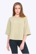 Женская блузка фисташкового цвета Emka B2239/iguana