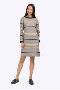 Платье прямого силуэта с длинными рукавами Emka PL814/plaza