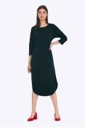 Платье свободного кроя с разрезами по бокам Emka PL670/venis