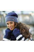 Женская шапка синего цвета Kamea Elena-Badge