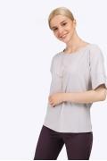 Светло-серая блузка оригинального кроя Emka B2315/nine