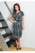 Летнее платье гофрированного трикотажа TopDesign A7 015