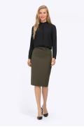 Классическая юбка-карандаш цвета хаки Emka S776/chiave