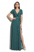 Длинное летнее платье в горох Donna Saggia DSP-33-82t
