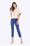 Синие женские брюки слегка зауженные к низу Emka D021/grace