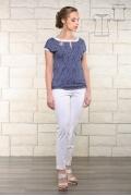 Летняя блузка в синюю крапинку Issi 171129