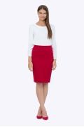 Красная юбка-карандаш Emka 663/aglaya (коллекция 2018)