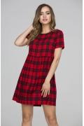 Коктейльное платье в черно-красную клетку Donna Saggia DSP-323-64