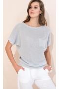 Летний вязаный свитер серого цвета Zaps Daria