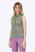 Летняя прозрачная блузка без рукавов Emka B2161/maybe