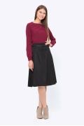Чёрная юбка со складками Emka 725/djolin