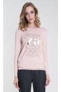 Женская грязно-розовая блузка с принтом Zaps Rina