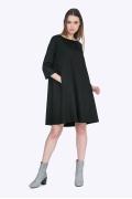 Чёрное платье-трапеция Emka PL765/agrafena