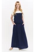 Длинная летняя трикотажная юбка синего цвета Zaps Latia
