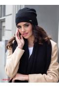 Тёплая мягкая шапка чёрного цвета Kamea Suelo