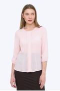 Розовая полупрозрачная блузка Emka b 2170/vizantiya