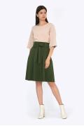 Расклешенная юбка зеленого цвета Emka S247/dixie