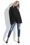 Женский свитер свободного кроя чёрного цвета Fimfi I229