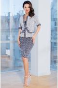 Женский костюм юбка+ жакет TopDesign Premium PA7 02
