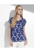 Сине-белая летняя блузка Sunwear I63A-2-30