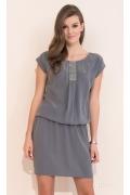 Платье свободного кроя серого цвета Zaps Agra