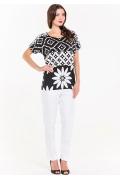 Чёрно-белая блузка Remix 3993