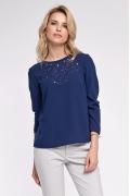 Женская блузка синего цвета Sunwear O54-5-30
