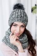 Комплект шапка с помпоном + снуд Veilo 31.31