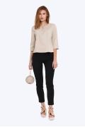 Женские офисные брюки, чёрного цвета Emka D-020/bendi