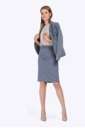 Стильная офисная юбка серого цвета Emka S369/iveta