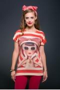 Женская футболка в стиле пин-ап Issi 171110