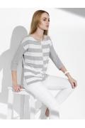Женская блузка серо-белого цвета Sunwear I01-4-09