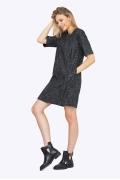 Молодёжное платье прямого кроя Emka PL715/vikoliya