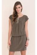 Платье свободного кроя коричневого цвета Zaps Agra