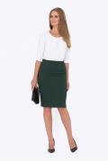 Тёмно-зеленая юбка Emka Fashion 629-susana