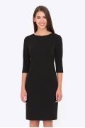 Чёрное платье-футляр Emka Fashion PL-569/milisa