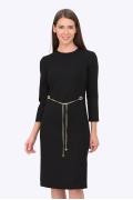 Чёрное платье-футляр Emka Fashion PL-537/sevara