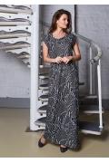 Длинное летнее платье из прибалтики TopDesign A8 037