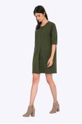 Прямое платье цвета хаки Emka PL718/dixie