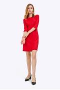 Красное платье на подкладке Emka PL849/bendigo